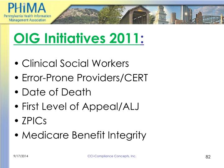 OIG Initiatives 2011