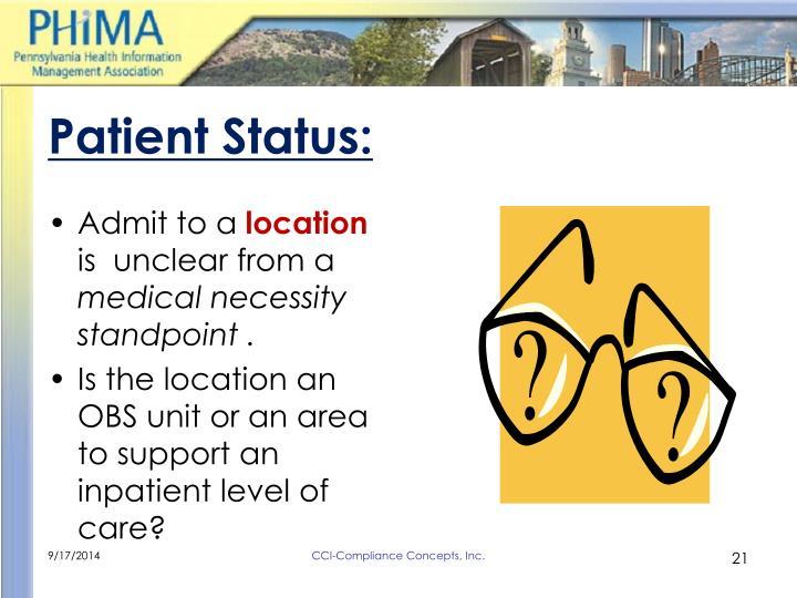 Patient Status: