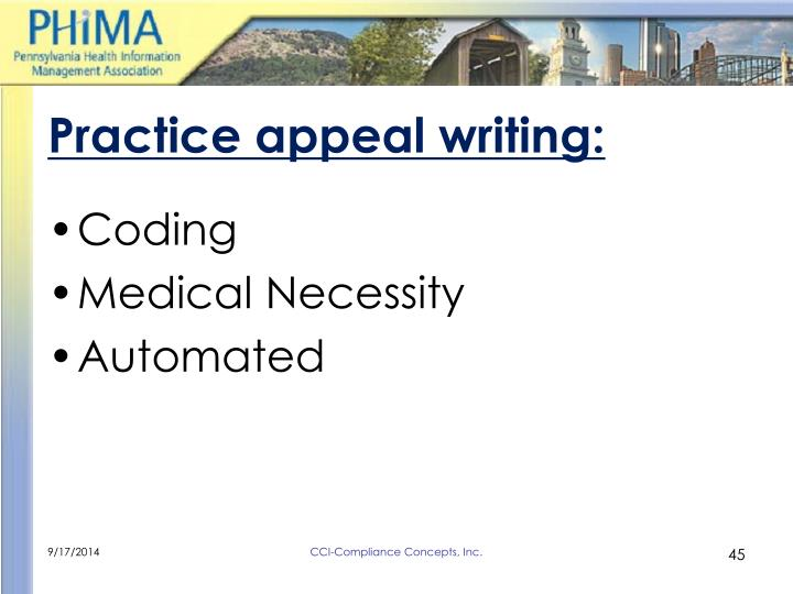 Practice appeal writing: