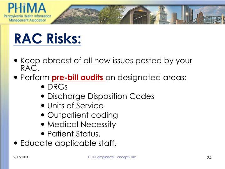 RAC Risks: