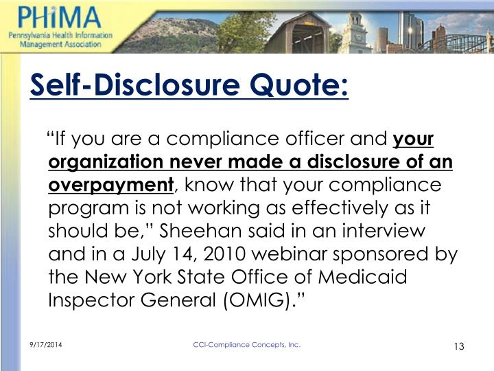 Self-Disclosure Quote:
