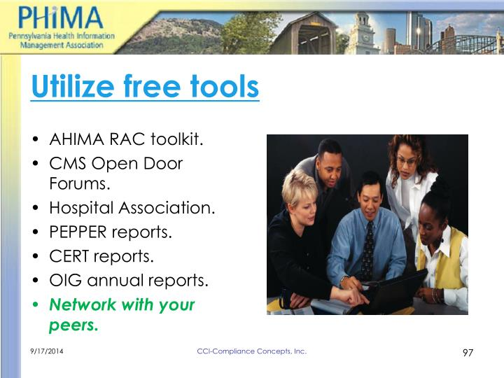 Utilize free tools