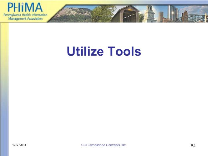 Utilize Tools