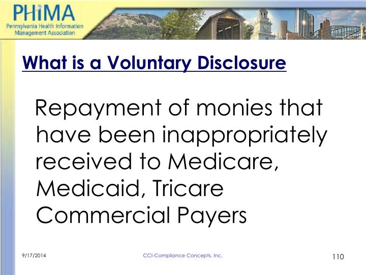 What is a Voluntary Disclosure