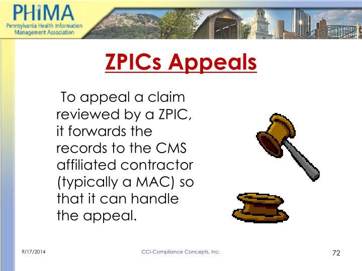 ZPICs Appeals