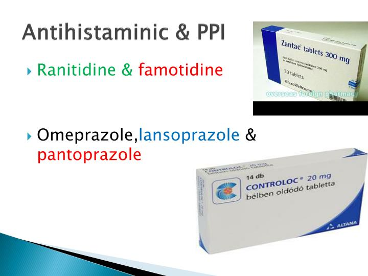 Antihistaminic & PPI