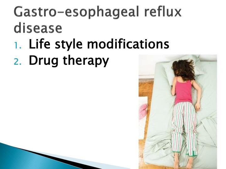Gastro-esophageal reflux disease