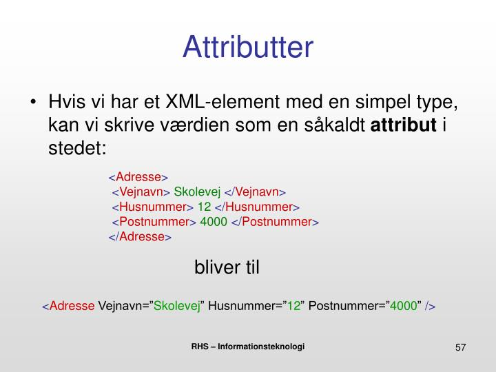 Attributter