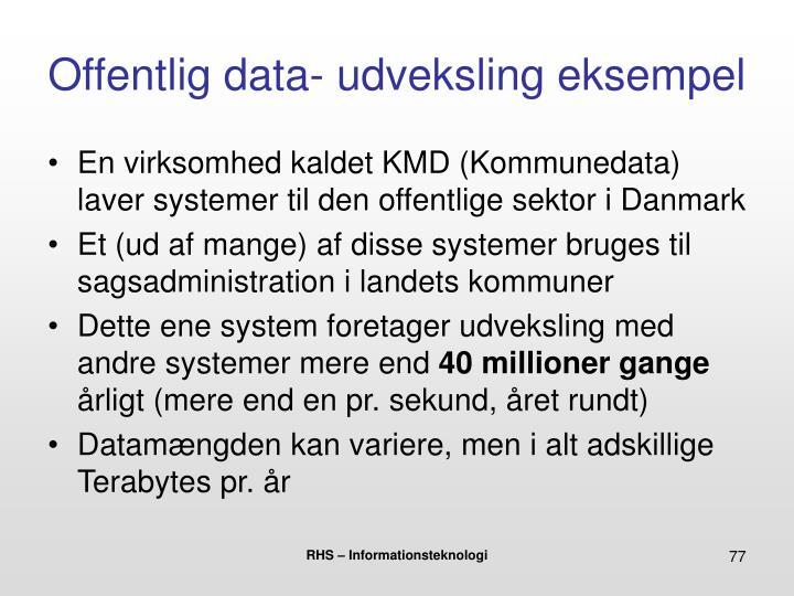 Offentlig data- udveksling eksempel