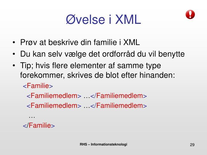 Øvelse i XML