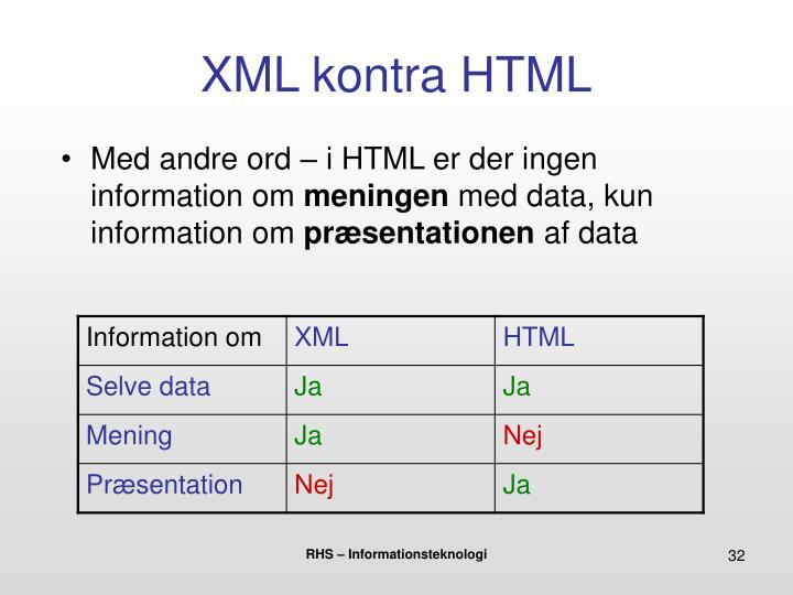 XML kontra HTML