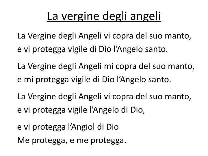 La vergine degli angeli