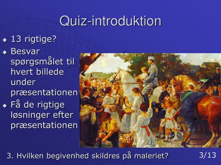 Quiz-introduktion