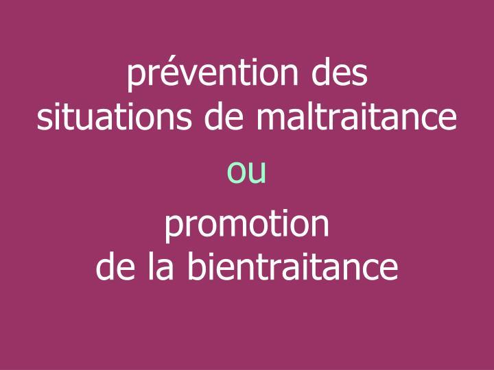 prévention des