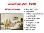 arcadismo s c xviii