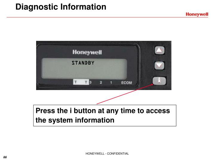 Press the i button at any time to access the system information