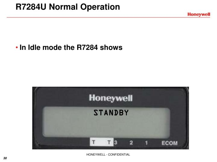 R7284U Normal Operation
