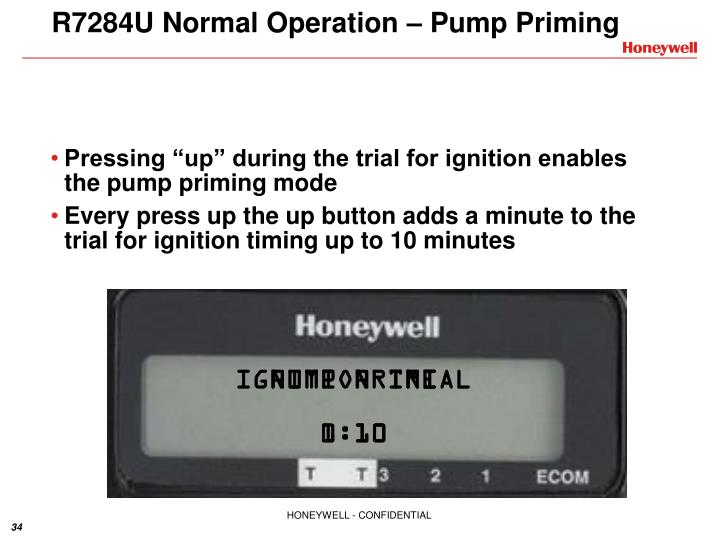 R7284U Normal Operation – Pump Priming