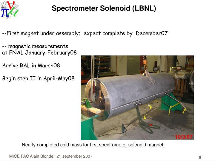 Spectrometer Solenoid (LBNL)