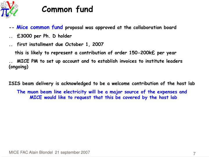 Common fund