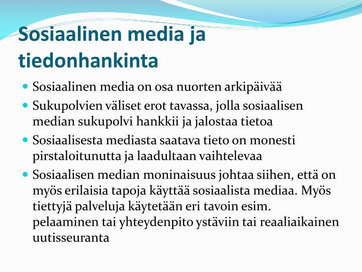 Sosiaalinen media ja tiedonhankinta