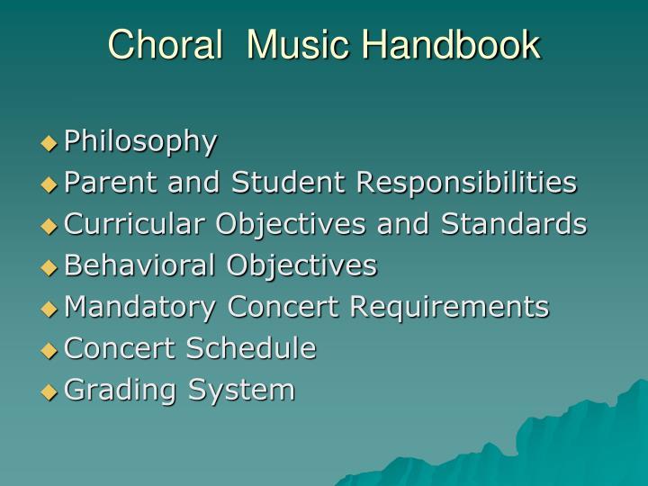 Choral  Music Handbook