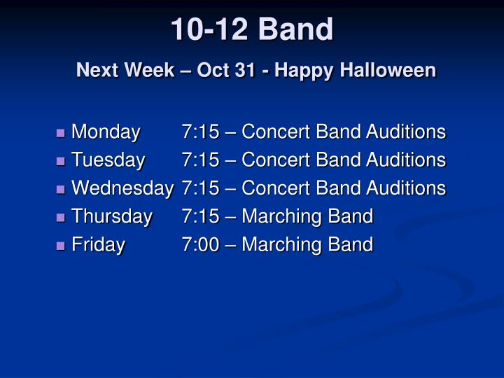 10-12 Band