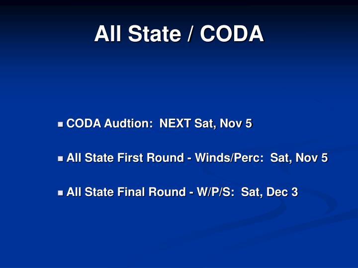 All State / CODA