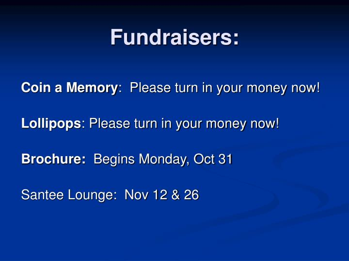 Fundraisers:
