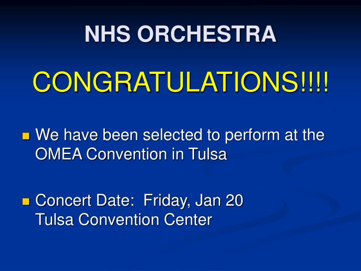 NHS ORCHESTRA