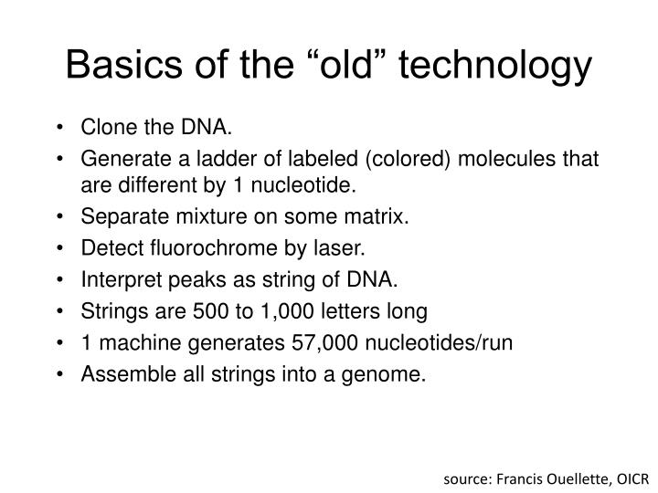 "Basics of the ""old"" technology"
