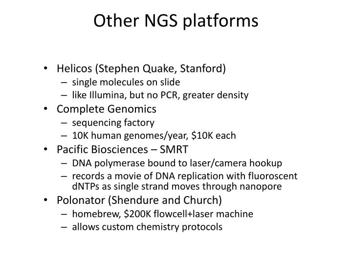 Other NGS platforms