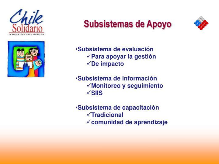 Subsistemas de Apoyo