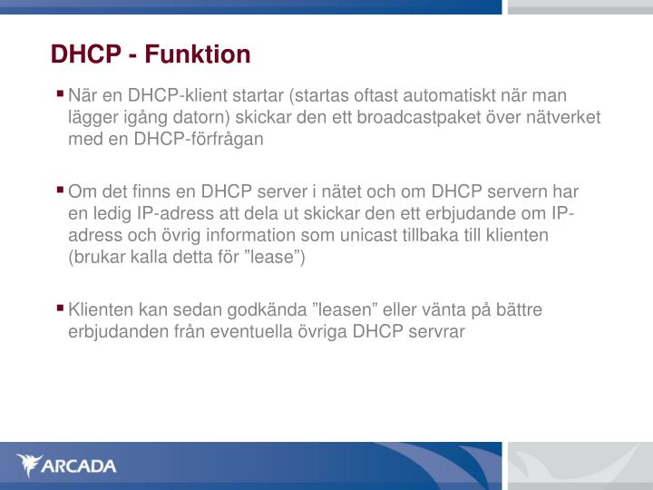 DHCP - Funktion
