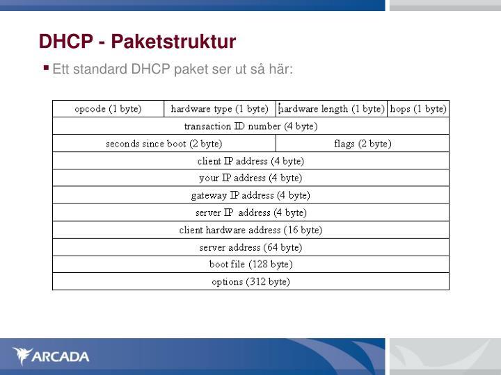 DHCP - Paketstruktur