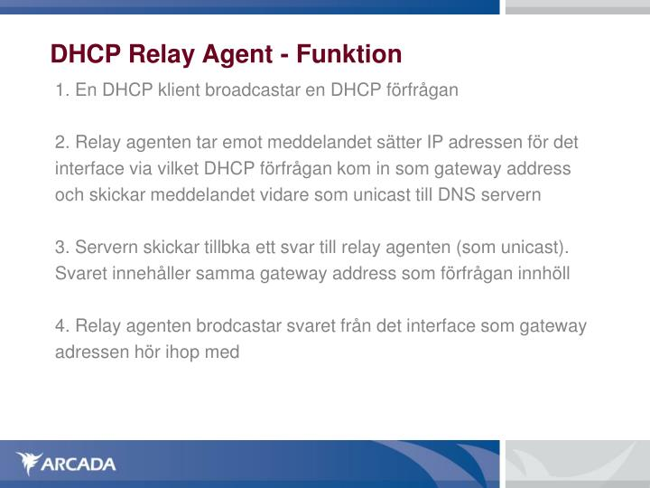 DHCP Relay Agent - Funktion