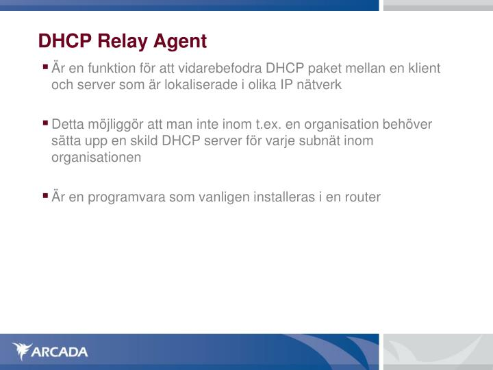 DHCP Relay Agent