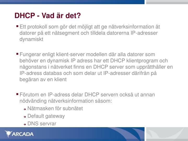 DHCP - Vad är det?