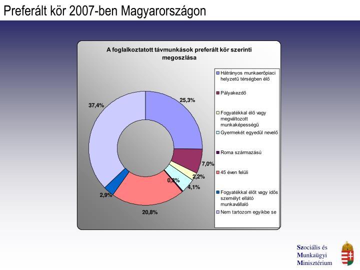 Preferált kör 2007-ben Magyarországon