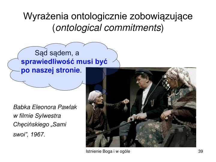 Wyrażenia ontologicznie zobowiązujące