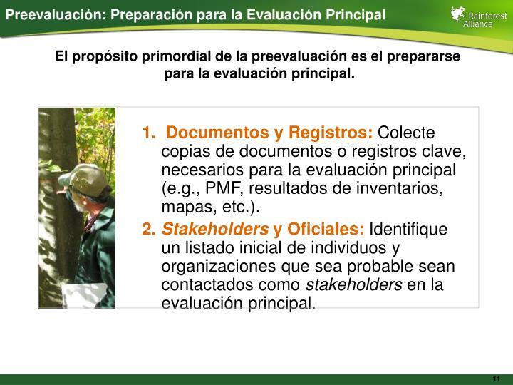 Preevaluación: Preparación para la Evaluación Principal