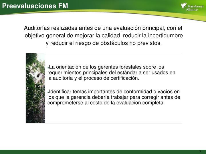 Preevaluaciones FM