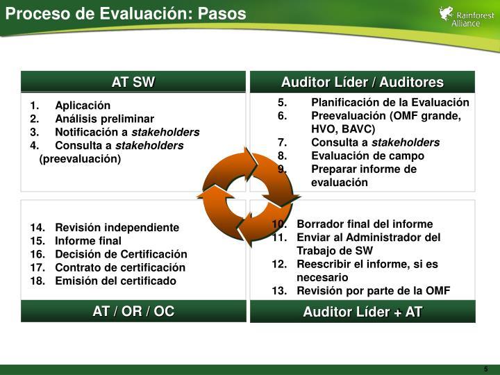 Proceso de Evaluación: Pasos