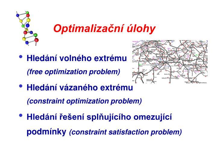 Optimalizační úlohy