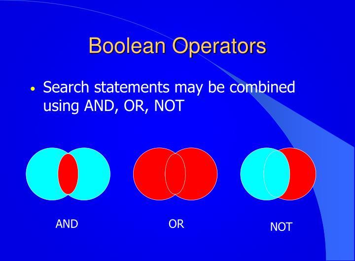 Boolean Operators