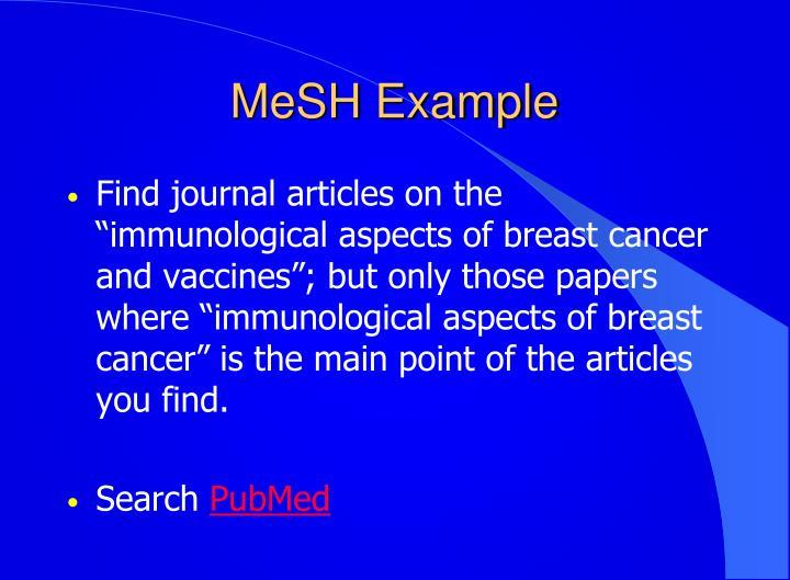 MeSH Example