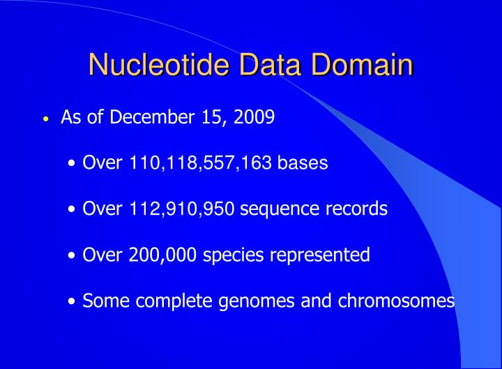 Nucleotide Data Domain