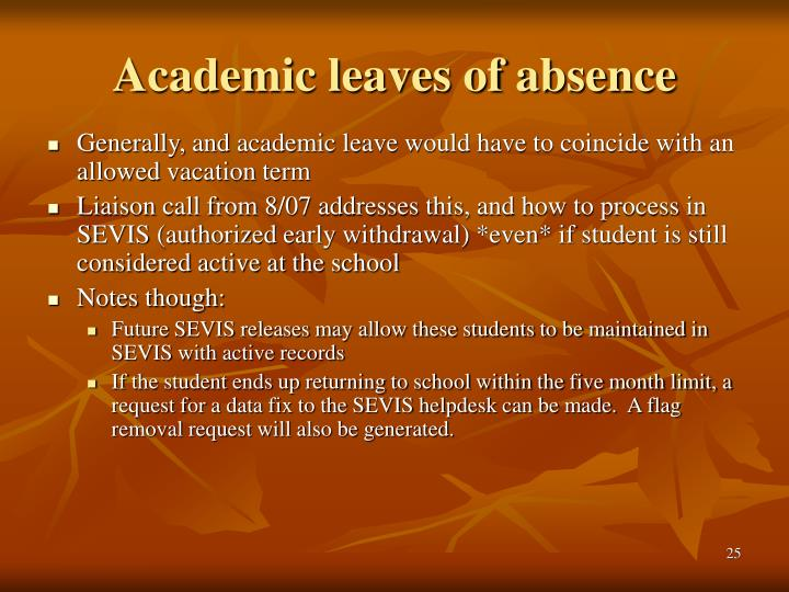 Academic leaves of absence