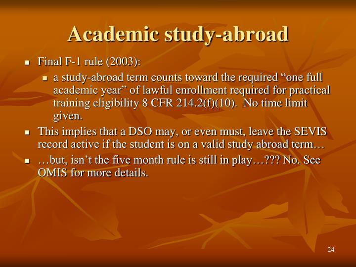 Academic study-abroad