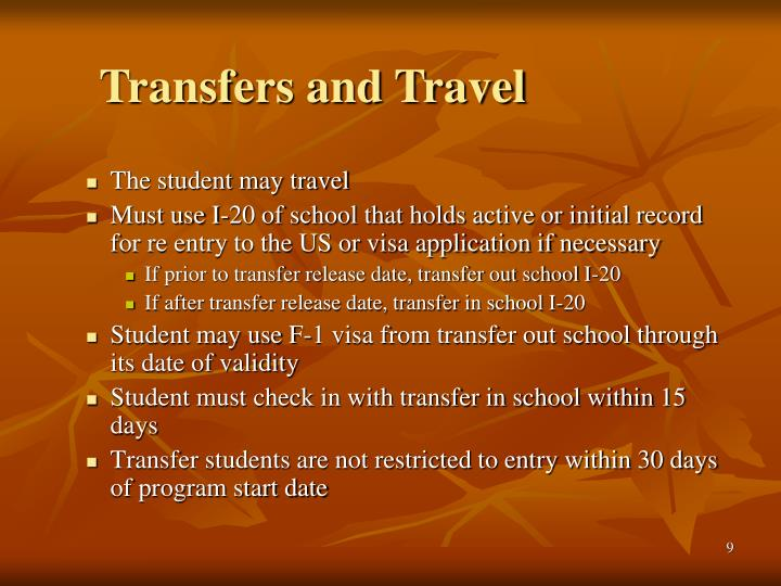 Transfers and Travel